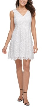 Kensie Lace Fit & Flare Dress