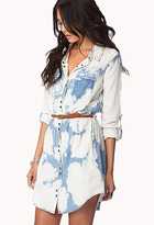 Forever 21 Life In ProgressTM Bleached Shirt Dress