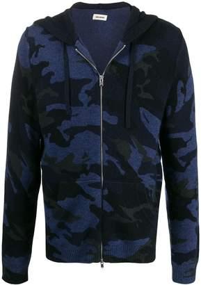 Zadig & Voltaire Zadig&Voltaire camouflage zip-up hoodie