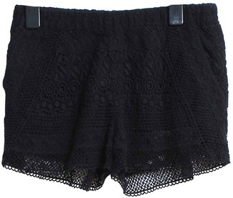 Maje Black Cotton Shorts for Women