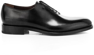 Salvatore Ferragamo Angiolo Lace-Up Leather Dress Shoes