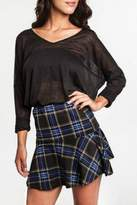 KORI AMERICA Plaid Mini Skirt