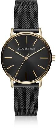 Armani Exchange Lola Gold and Black Mesh Women's Watch