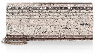 Jimmy Choo Sweetie Shadow Coarse Glitter Acrylic Clutch