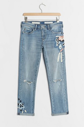 Pilcro Embroidered High-Rise Relaxed Jeans