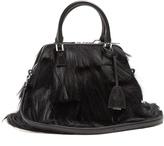 Maison Margiela Leather-trim cross-body bag