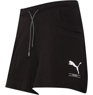 Puma Womens Nu-tility Fleece Shorts Black