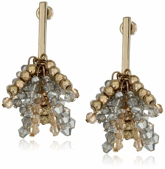 Kenneth Cole Woven Crystal Faceted Bead Stick Cluster Drop Earrings One Size