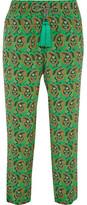Etro Paisley-print Silk Crepe De Chine Pants - Green