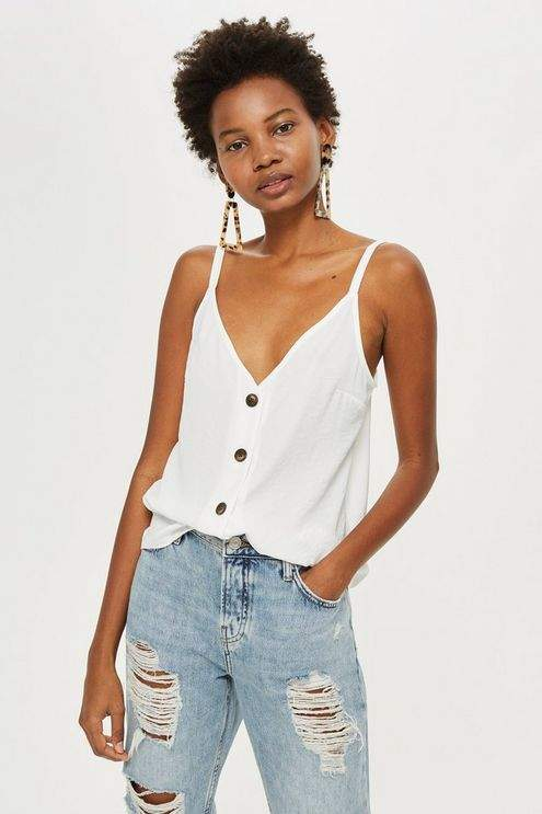 Topshop Womens Button Front Cami