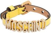 Moschino Leather Belt Bracelet W/crystal