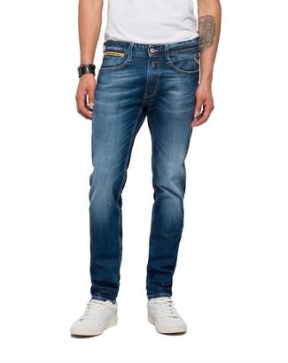 Replay Men's Anbass Coin Zip Slim Jeans