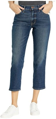 Lucky Brand Mid-Rise Authentic Straight Crop Jeans in Bellafonte (Bellafonte) Women's Jeans