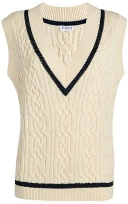 Claudie Pierlot Cable-Knit V-Neck Sweater Vest