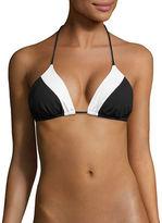 Shoshanna Two-Tone String Bikini Top