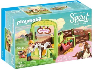 Playmobil Dreamworks Spirit Riding Free Abigail & Boomerang With Horse Stall