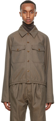 Lemaire Brown Military Jacket
