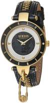Versus By Versace Women's 'KEY BISCAYNE II' Quartz Stainless Steel and Leather Casual Watch, Color: (Model: SCK050016)