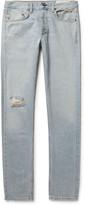 Rag & Bone Two Slim-Fit Distressed Selvedge Denim Jeans