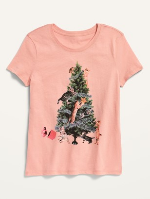 Old Navy Short-Sleeve Christmas-Graphic Tee for Girls