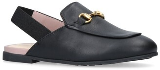 Gucci Kids Princetown Slingback Loafers