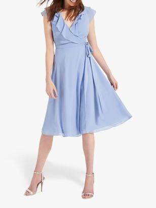 Phase Eight Allegra Wrap Dress, Powder Blue