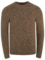 George Marl Brown Chunky Knit Crew Neck Jumper