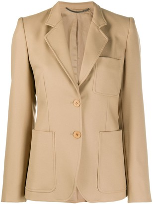 Stella McCartney Patch Pocket Single Breasted Blazer