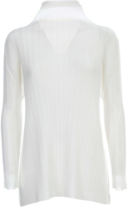 Pleats Please Issey Miyake Dress L/s High Neck Rounded Bottom