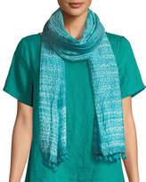 Eileen Fisher Hand-Loomed Organic Cotton/Silk Shibori Scarf