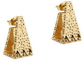 House Of Harlow 1960 Scutum Trapezoid Goldtone Earrings