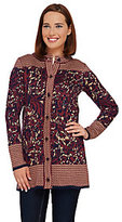 As Is Liz Claiborne New York Double Knit Sweater Coat