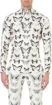 Alexander McQueen Victorian moth-print silk shirt