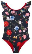 MonnaLisa Floral Frill Panel Swimsuit