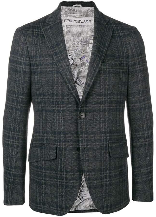 Etro single-breasted check blazer