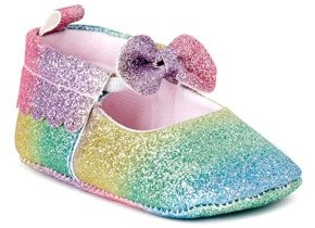 First Steps by Stepping Stones Bow Rainbow Mary Jane Crib Shoes (Infant Girls)