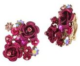Betsey Johnson Crystal Roses Clip On
