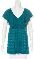 M Missoni Ruffle-Trimmed Sleeveless Top