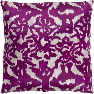 """Bungalow Rose Tatum Throw Pillow Cover Size: 18"""" H x 18"""" W, Color: Wheat/Navy"""