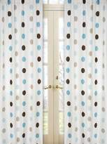 JoJo Designs Blue and Brown Mod Dots Window Treatment Panels by Sweet Set of 2