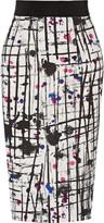 Milly Printed crepe skirt
