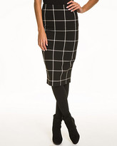 Le Château Windowpane Ponte Knit Pencil Skirt