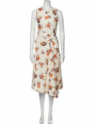 Victoria Beckham Floral Print Long Dress w/ Tags