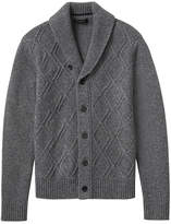 Banana Republic Merino-Blend Cable-Knit Button Shawl Cardigan