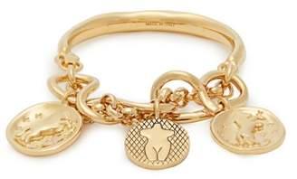 Chloé Emoji Engraved-medallion Brass Bracelet - Womens - Gold