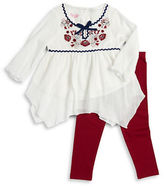 Nannette Girls 2-6x Embroidered Tunic and Leggings Set