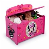 Disney Minnie Mouse Deluxe Toy Box Chest, Pink by