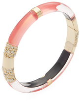 Alexis Bittar Crystal Encrusted Minimalist Cuff Bracelet