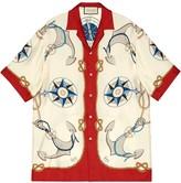 Gucci Nautical-Print Bowling Shirt