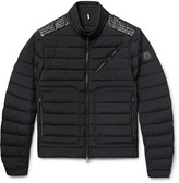 Moncler - Geant Slim-fit Leather-trimmed Quilted Stretch-shell Down Jacket